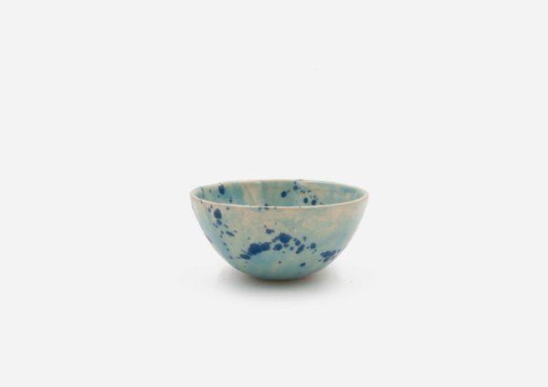 Bowl Con Molde. Azul Celeste Dalmata Azul. (Xs)