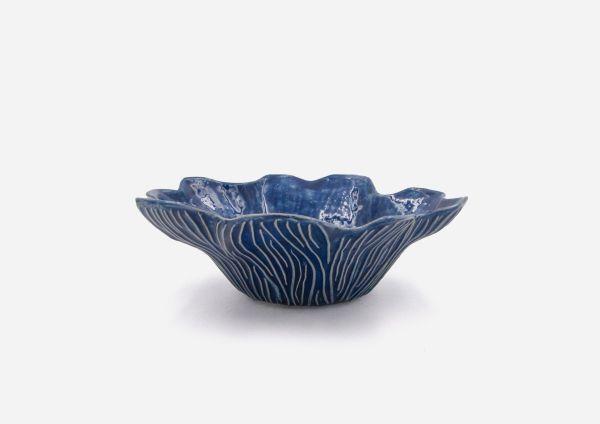 Bowl Flor. Azul Cobalto. (M)