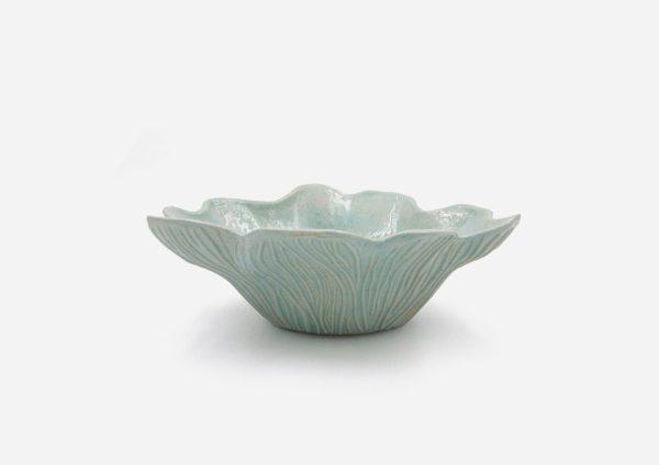 Bowl Flor. Azul Claro. (M)