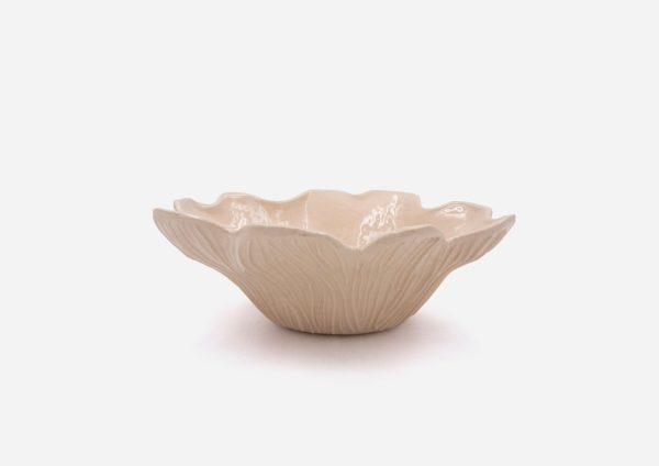Bowl Flor. Crema. (M)