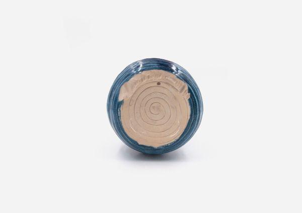 Florero Rollo. Azul Oscuro Manchas. (M)