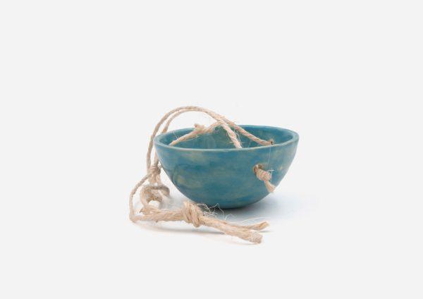 Matera Sin Planta Colgante. Azul Celeste. (Xs)