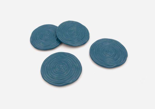 Set Porta Vasos Rollo. Azul Satin. (X4)