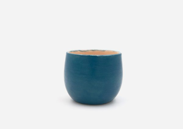 Vasito. Azul Satin. (S)