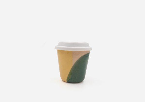 Keep Cup. Mancha Verde y Amarillo. (S)