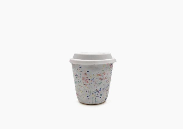 Keep Cup. Blanco  Dalmata Arcoiris. (S)