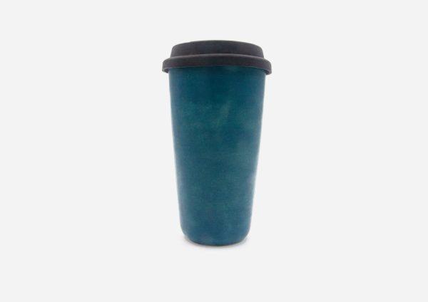 Keep Cup. Azul Satin. (L)