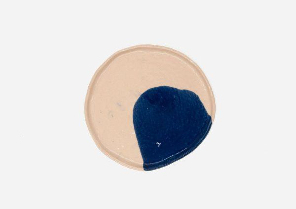 Plato Vajilla Litio. Mancha Azul Cobalto. (M)