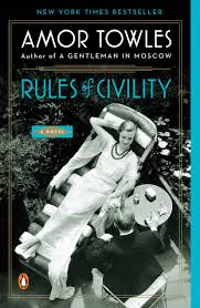 Evening Open Book Club (Rules of Civility by Amor Towles)