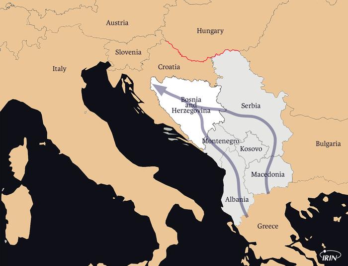 Mapa kretanja migranata
