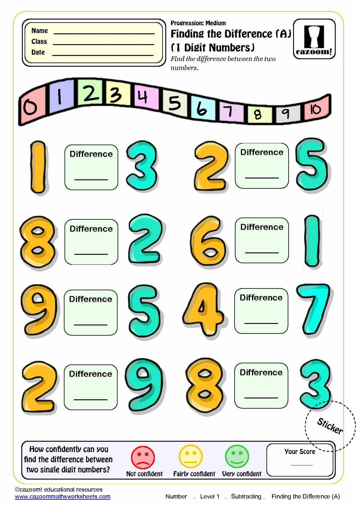 Math Worksheet Ks1