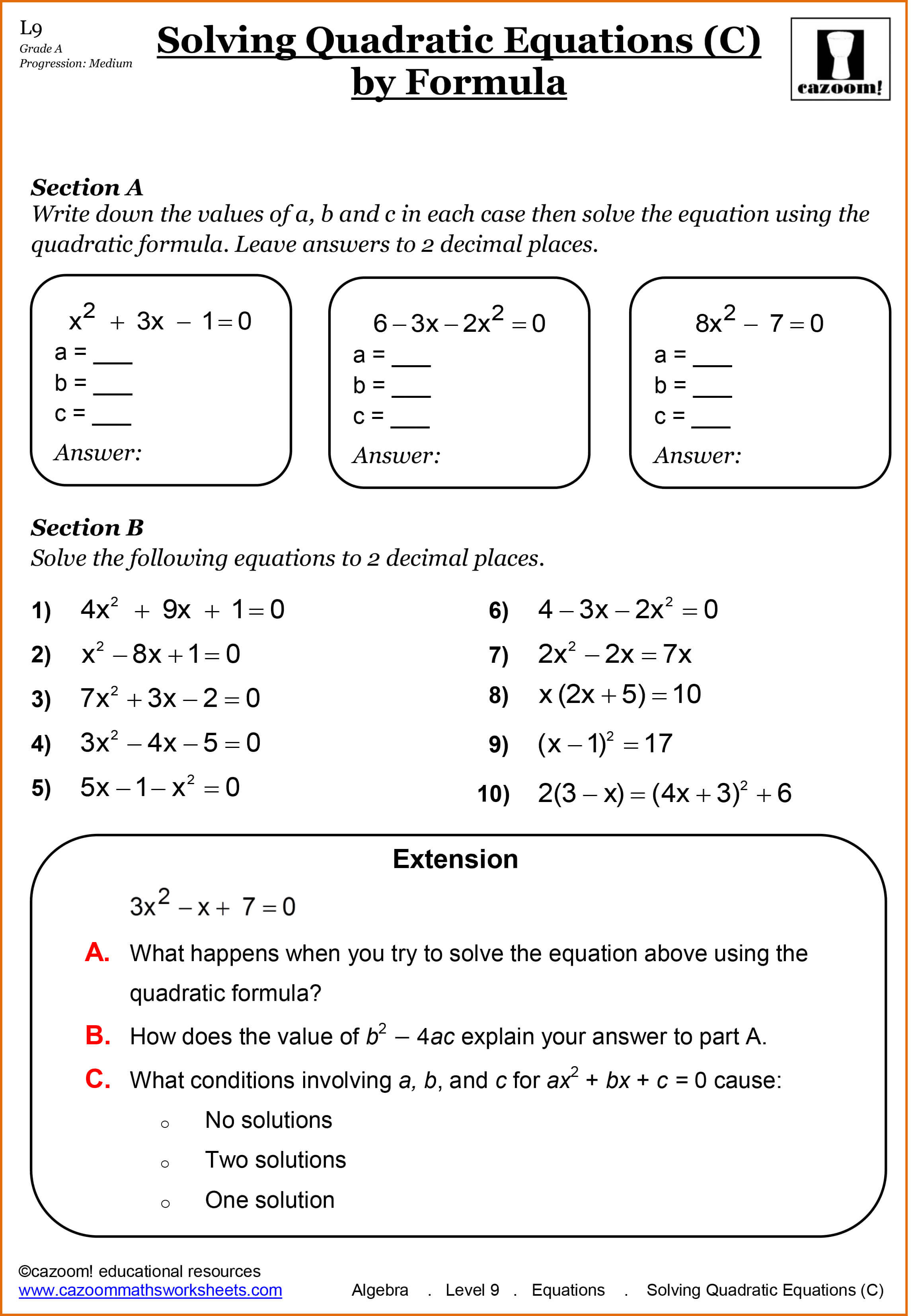 Year 11 Maths Worksheets