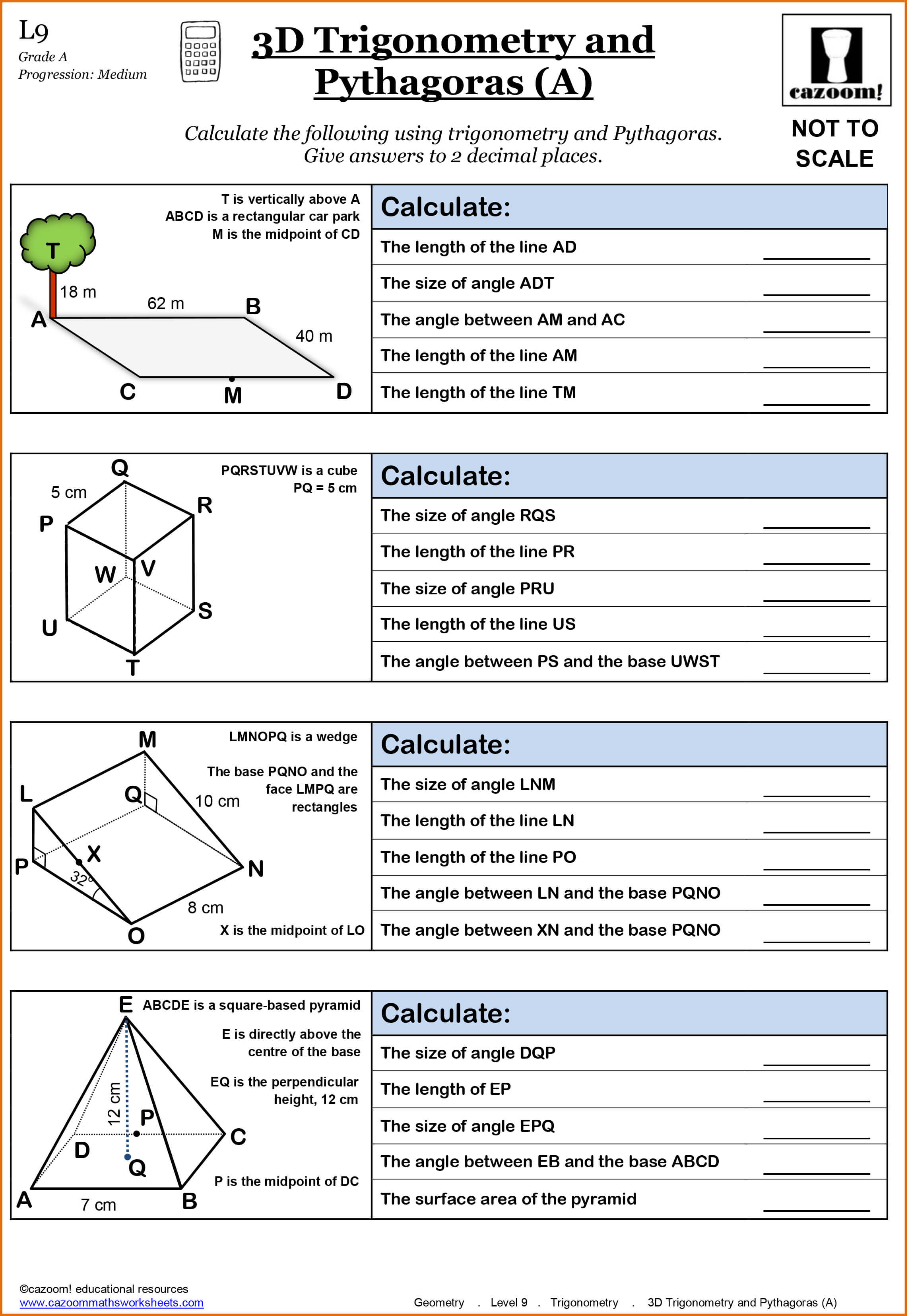 Year 9 Maths Worksheets