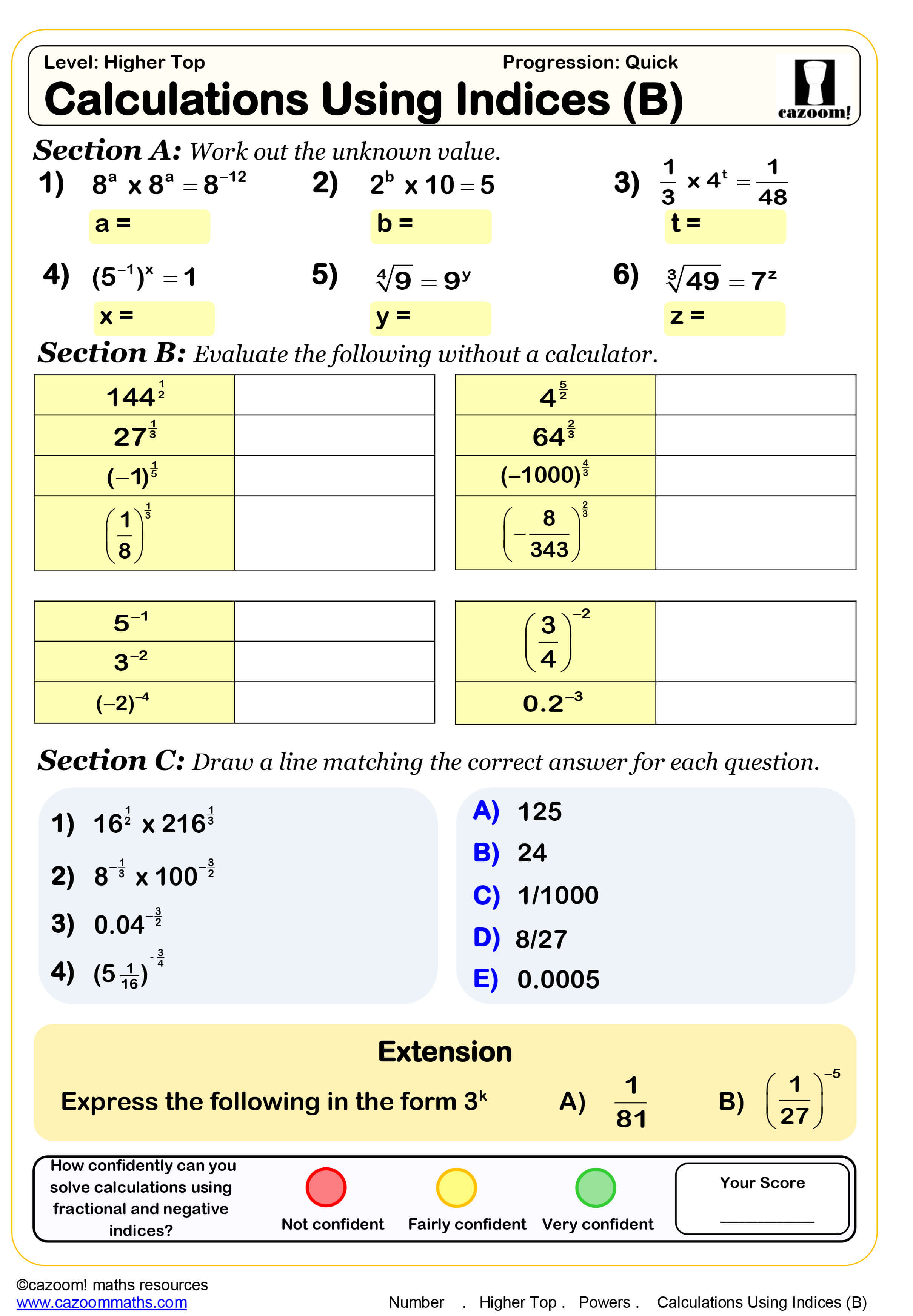 Year 10 Maths Worksheets
