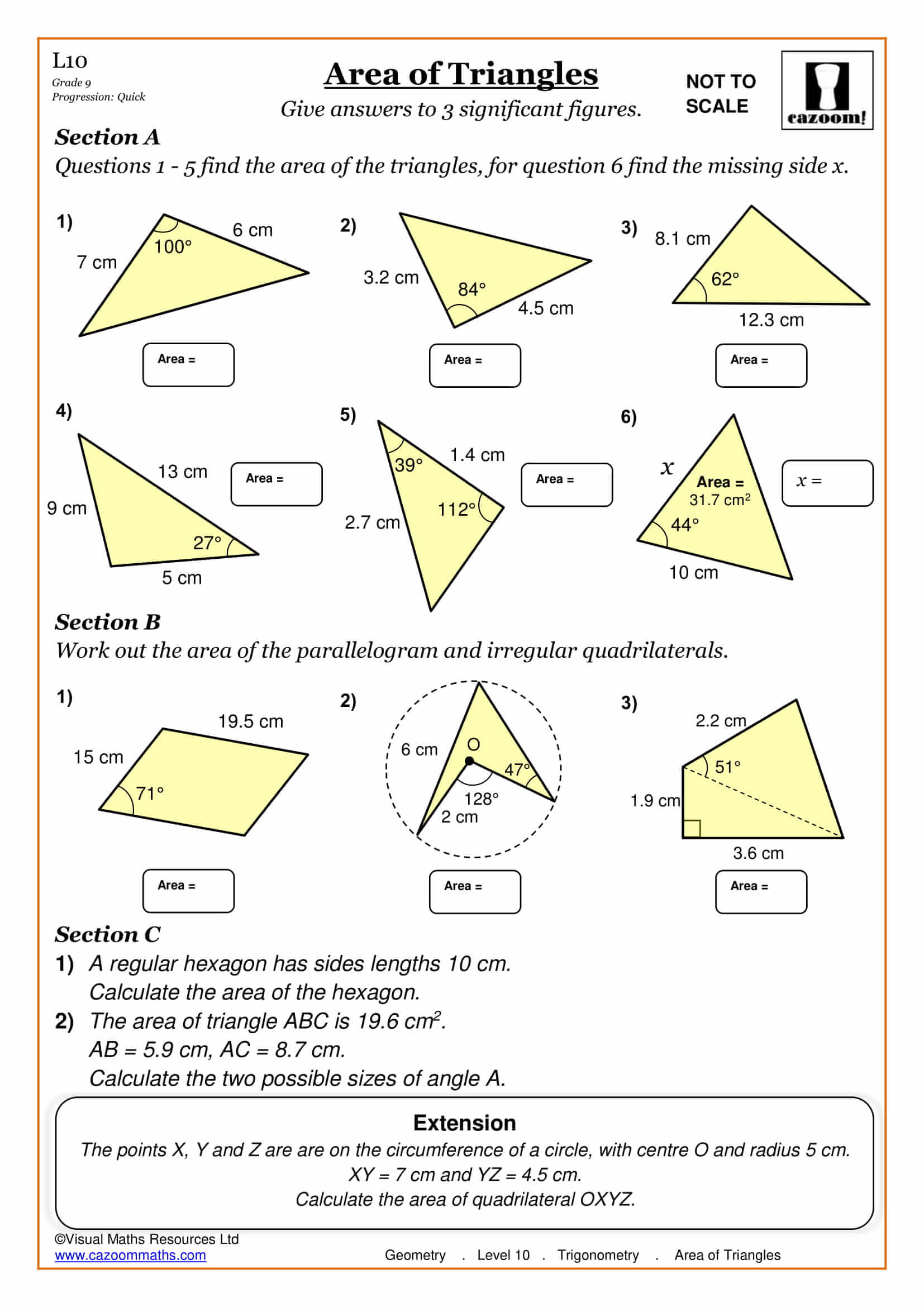 Key Stage 3 Year 8 Maths Worksheets