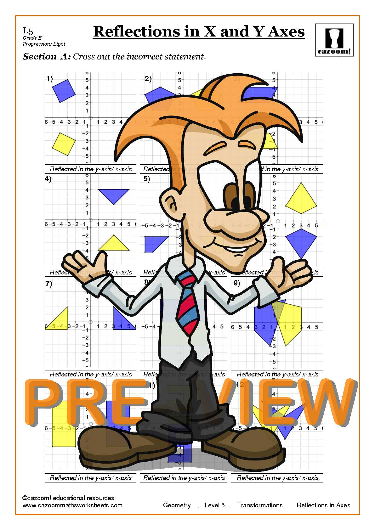 Transformations Worksheets With Answers