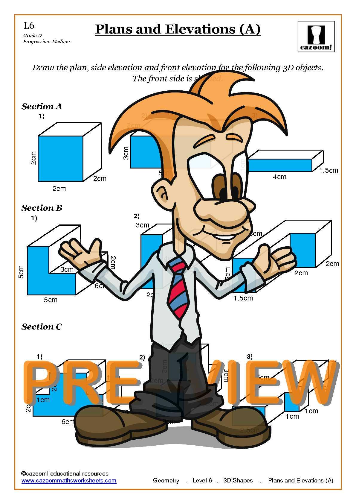 Ks3 Amp Ks4 3d Shapes Worksheets