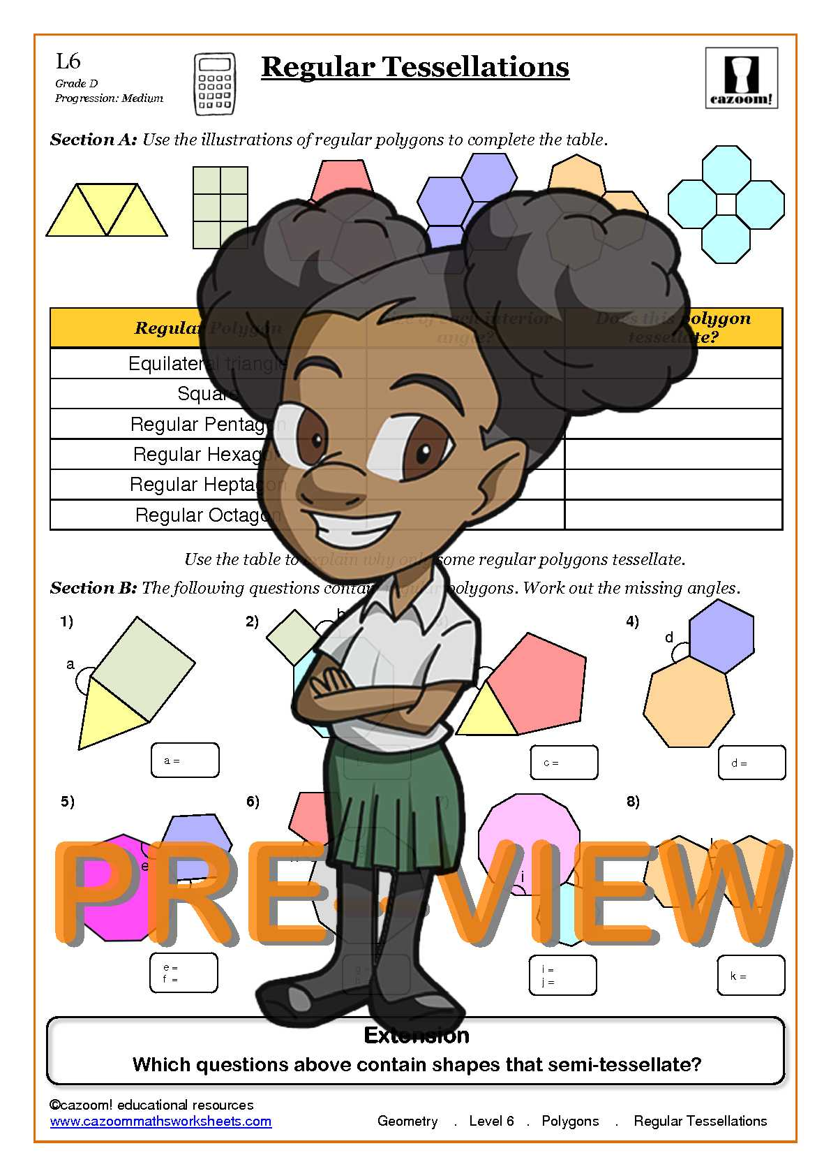 Polygons Maths Worksheets