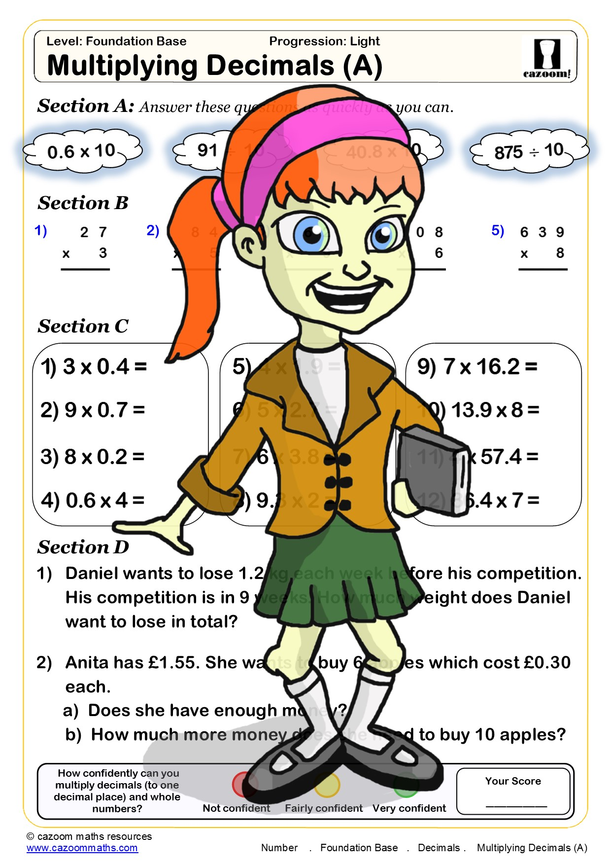 30 Free Maths Worksheets