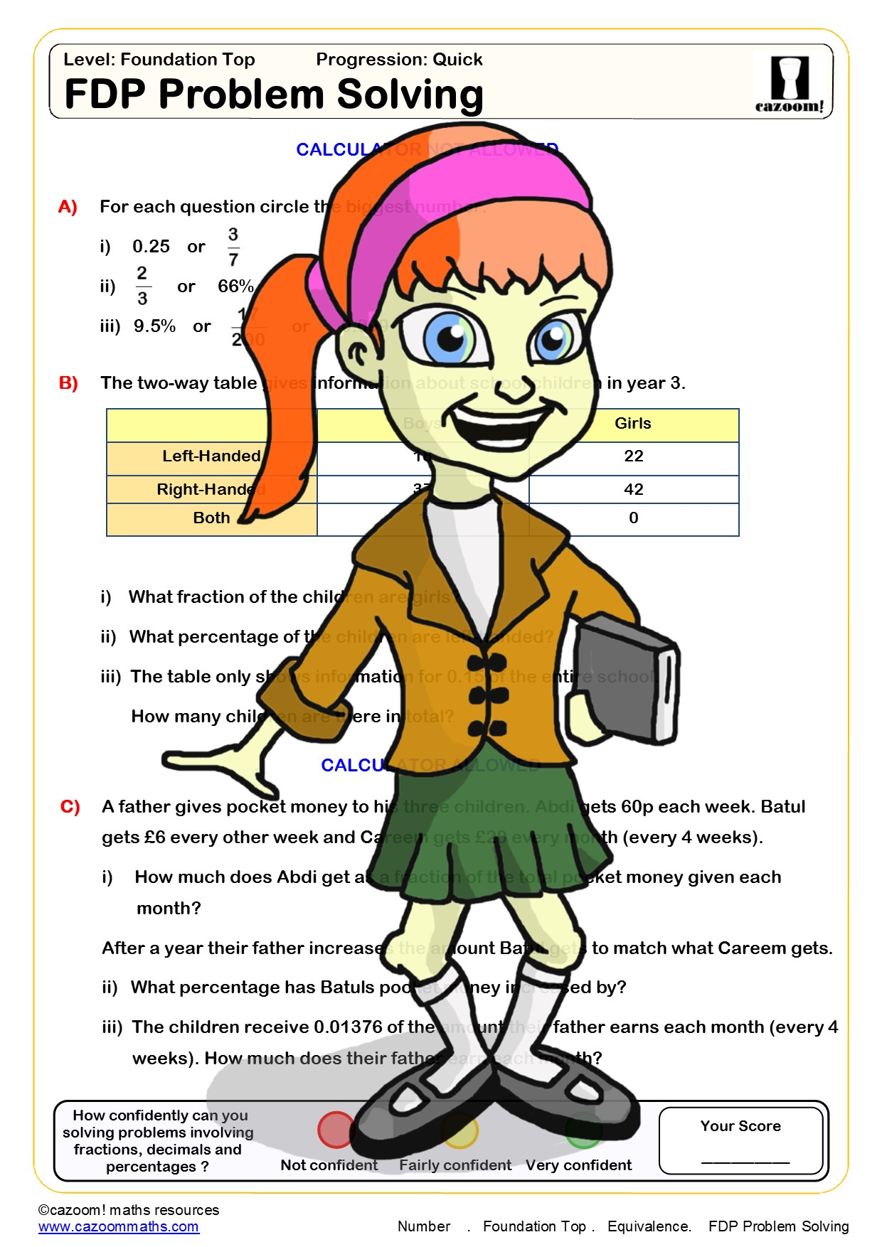 Finding The Percent Worksheet