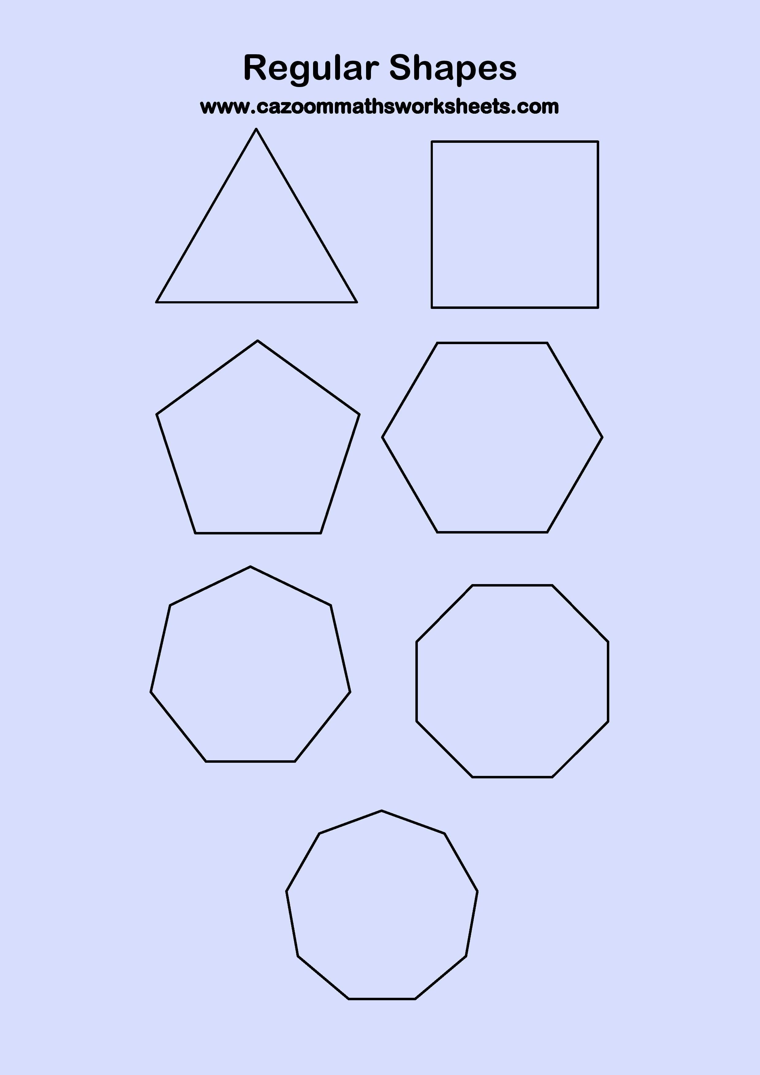 Worksheet Identifying Simple Shapes