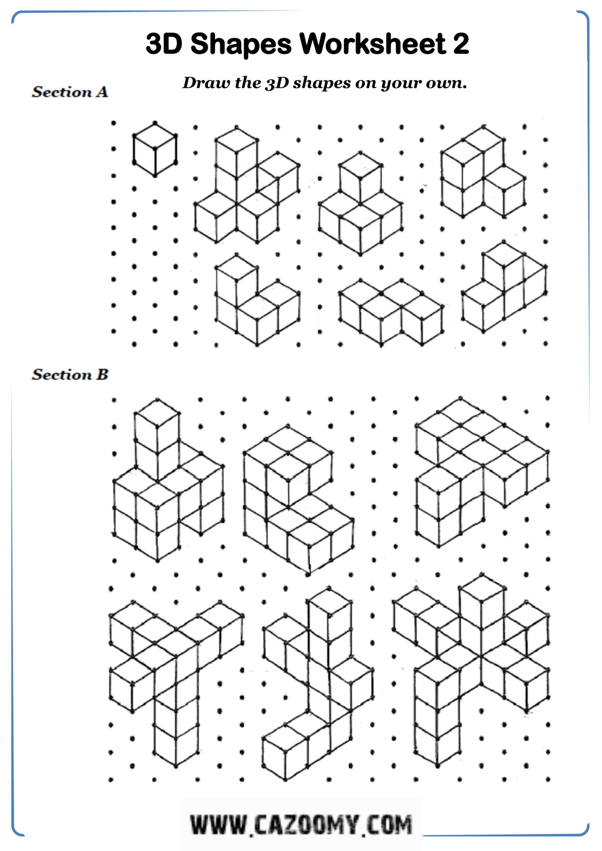 Drawing 3d Shapes On Isometric Paper