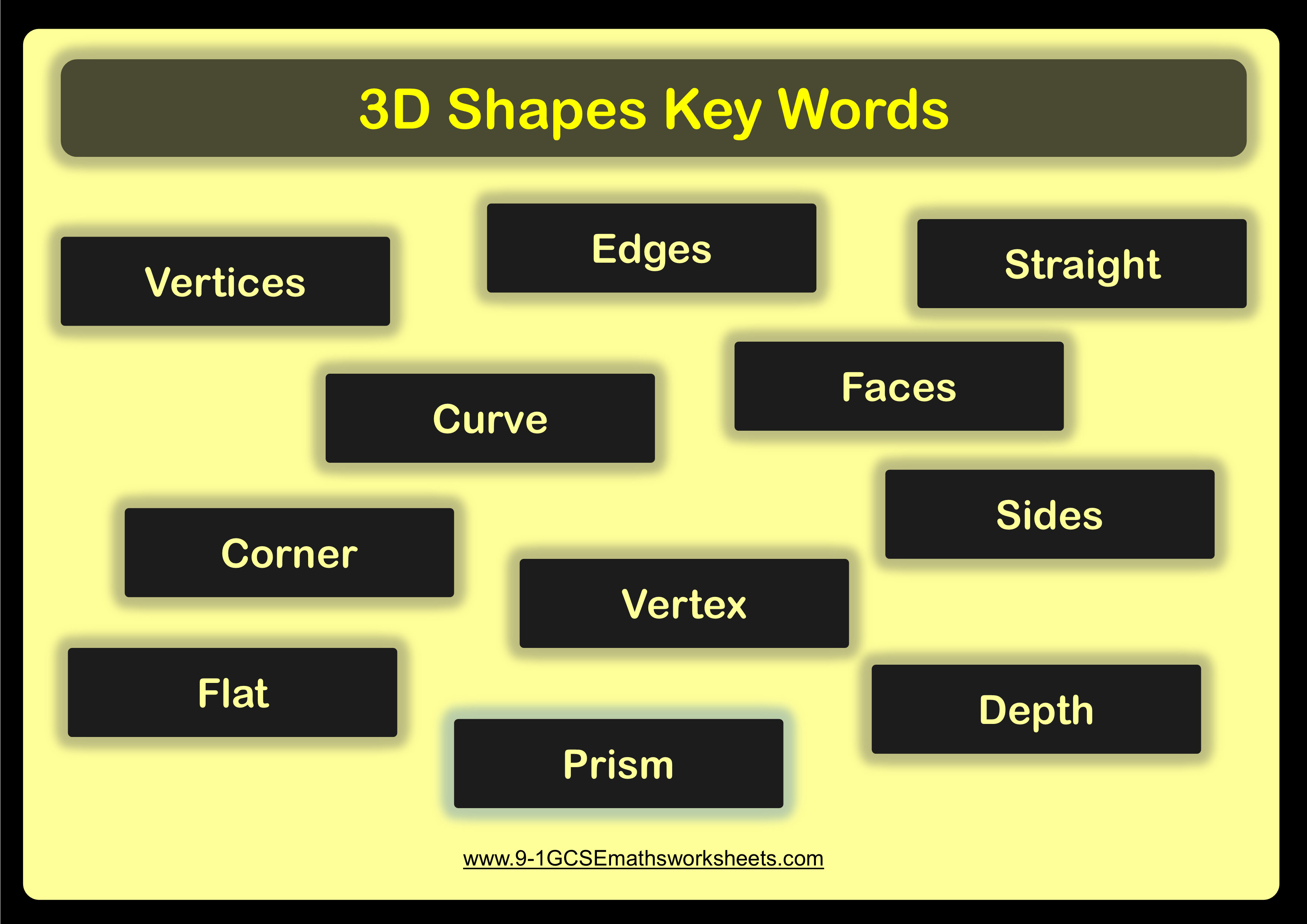 3d Shapes Worksheets