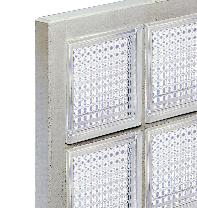4x4 briques de verre panneau standard