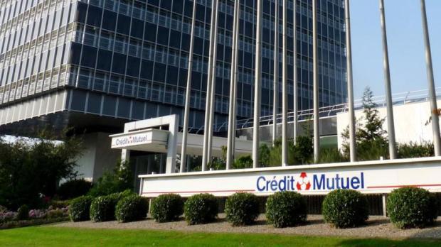 Le siège du Crédit Mutuel à Strasbourg (Wacken) en 2009