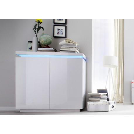 commode design laque blanc 2 portes cbc meubles
