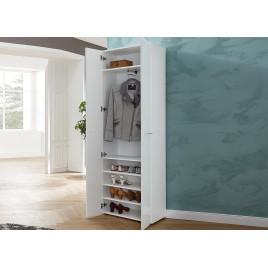 meuble entree armoire rangement blanche