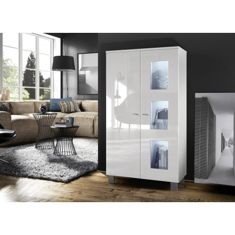meuble vitrine basse 2 portes