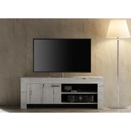 meuble tv chene blanchi 140 cm cbc meubles