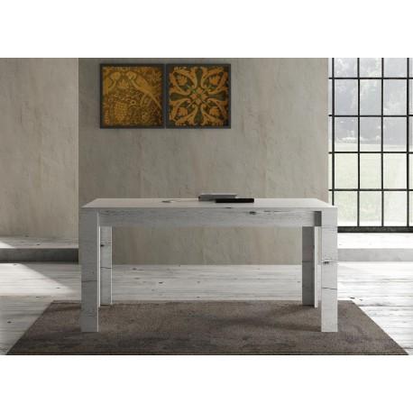 table a manger en bois chene blanchi 1m60 cbc meubles