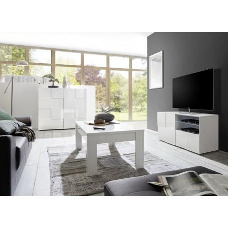 meubles de salon blanc laque