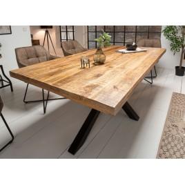 table a manger bois massif manguier metal rectangulaire 1m80