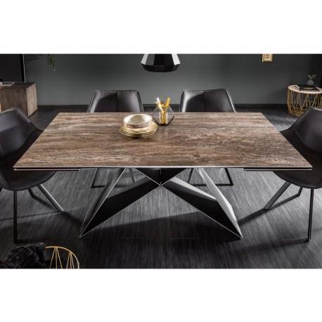 table a manger extensible ceramique 180 260 cm et pieds metal cbc meubles