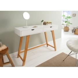meuble console scandinave 2 tiroirs 1m