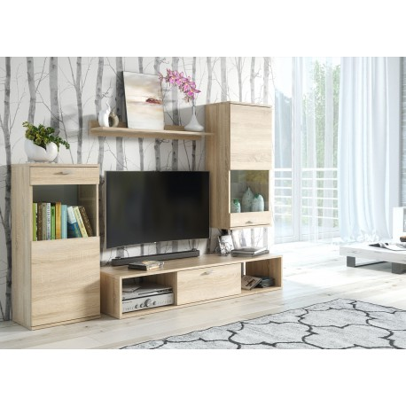 meuble tv chene clair 1m80 pas cher