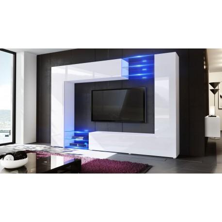 meuble tv mural led samba