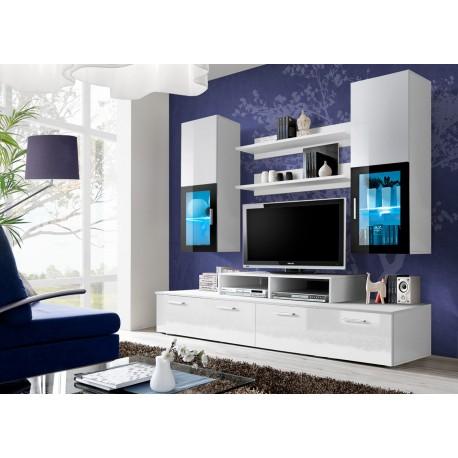 meuble tv design blanc laque marty cbc meubles