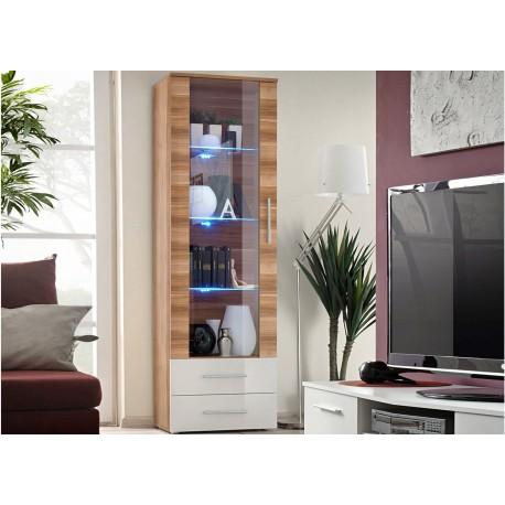 vitrine moderne de salon a led cliff cbc meubles