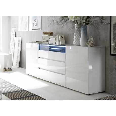 buffet design laque blanc brillant cbc meubles