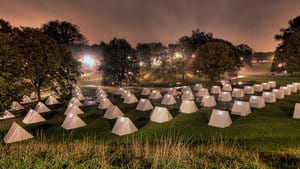 The Encampment, at Fort York in Toronto, features a different exhibit or story about the War of 1812 inside each tent.