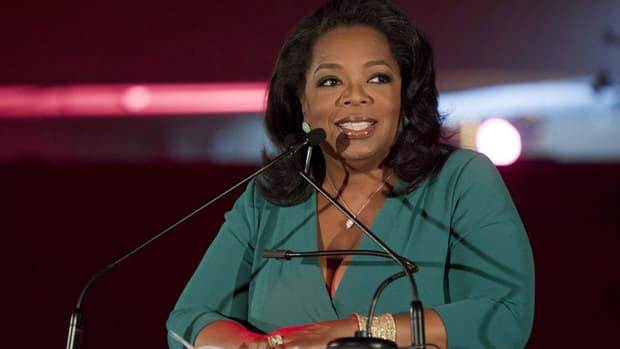 Oprah Winfrey is shown in March. She tops the Forbes highest paid celebrities list for the fourth year.