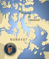 Resolute Bay is located near the eastern entrance for the Northwest Passage.