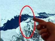A satellite image shows a 66-square-kilometre chunk of ice has broken off Ellesmere Island.
