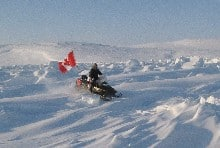 Canadian rangers patrol the Arctic
