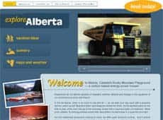 The Greenpeace website has an address that's similar to Alberta's official tourism page.