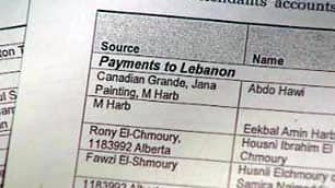 Legal documents allege millions of dollars have been transferred to such countries as Lebanon, India, Saudi Arabia, the United Arab Emirates and Pakistan.